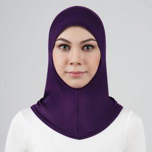 stailoz tudung hijab full purple titan tech