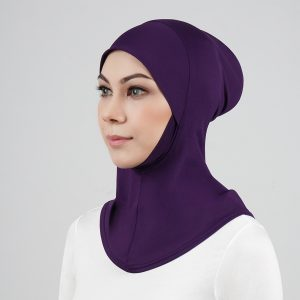 stailoz tudung hijab full purple titan tech