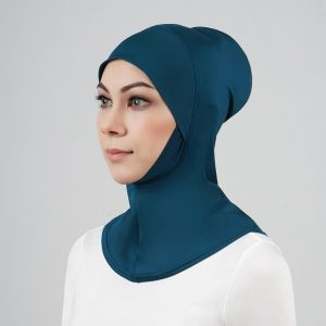 stailoz tudung hijab full teal green titan tech