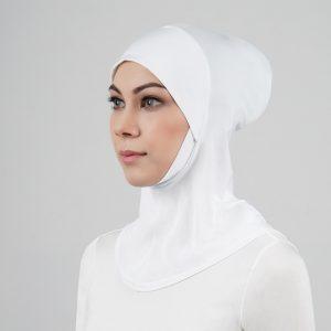 stailoz tudung hijab full white titan tech