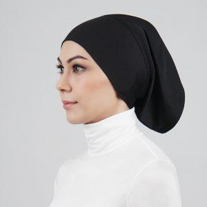 stailoz tudung hijab tube black titan tech