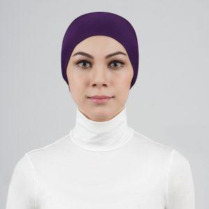 stailoz tudung hijab tube purple titan tech