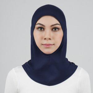 stailoz tudung hijab full dark blue titan tech