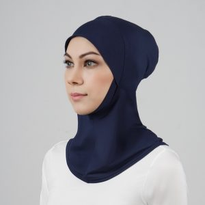 stailoz tudung hijab full dark blue titan tech