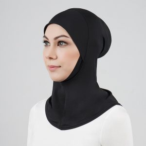 stailoz tudung hijab full black titan tech