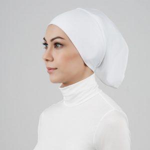 stailoz tudung hijab tube white titan tech