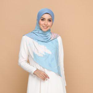 nyzanourexclusive nyzanour exclusive jelita bloom baby blue bawal tudung hijab