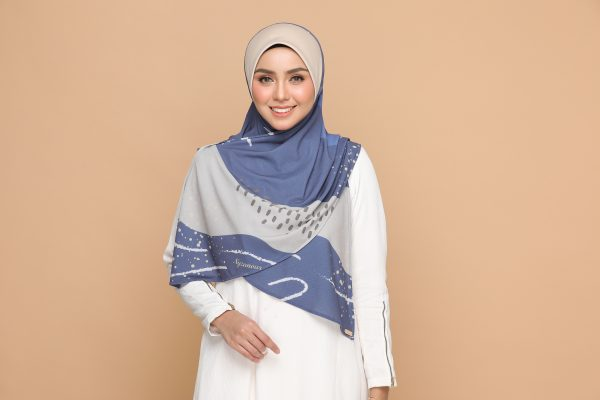 nyzanour exclusive jelita bloom mad blue bawal tudung hijab nyzanourexclusive