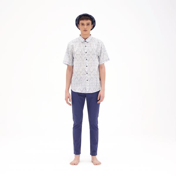 Toka - Garage Mix White [Ikkat Bali Series] Kapten Batik