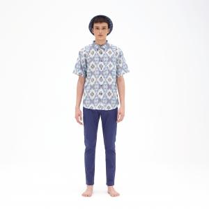 Vajra - Ultramarine Blue [Ikkat Bali Series] Kapten Batik