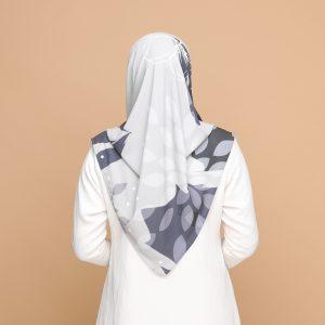 grey gray basic bawal hijab tudung nyzanourexclusive nyzanour exclusive