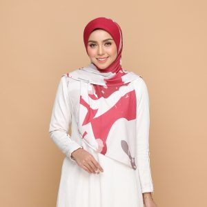 chill red basic bawal hijab tudung nyzanourexclusive nyzanour exclusive