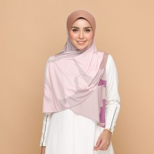 dusty brown basic bawal hijab tudung nyzanourexclusive nyzanour exclusive