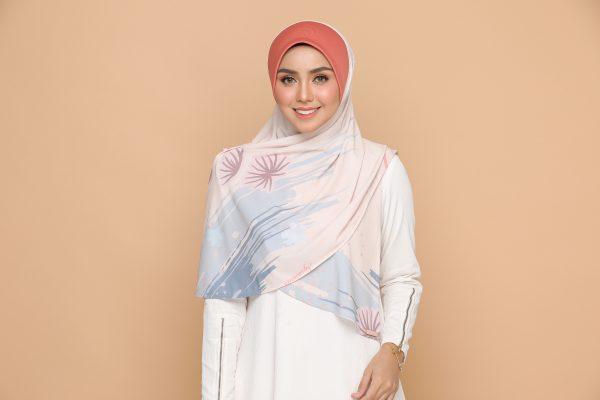 peach basic bawal hijab tudung nyzanourexclusive nyzanour exclusive