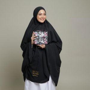 Telekung Story Umrah Black