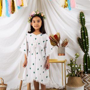 Cute Girls Cactus Kaftan